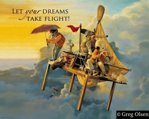 One of my favorite artists, Greg Olsen, and his perfect illustration of imagination.